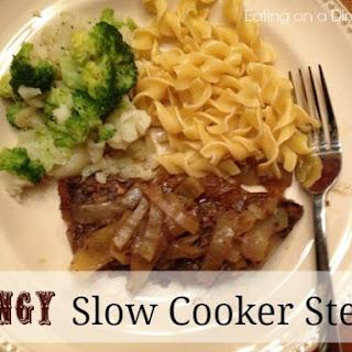 Tangy Crockpot Steaks.