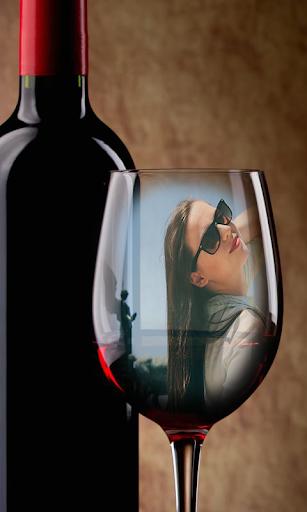 Glass Bottle Photo Frames