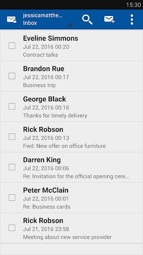 Business Class Email (BCE) screenshot 2