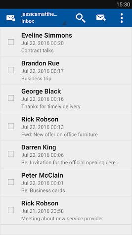 Business Class Email (BCE) Screenshot