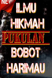 ILMU HIKMAH PUKULAN BOBOT HARIMAU - náhled