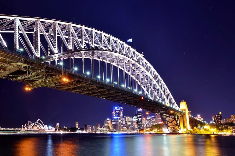 sydney harbour bridge and sydney opera house by Ronaldo D. de Guzman - Travel Locations Landmarks