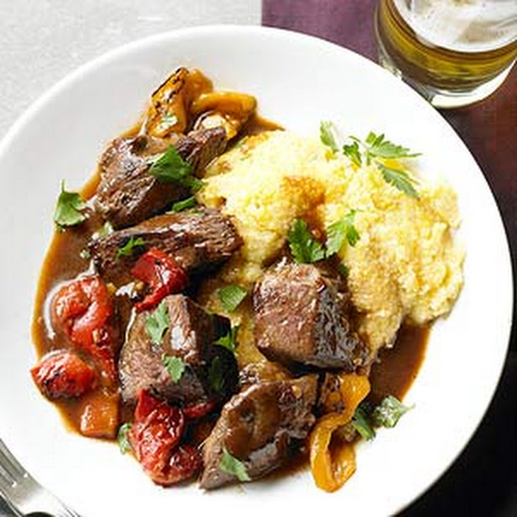 Beef Sirloin Tips with Smoky Pepper Sauce Recipe