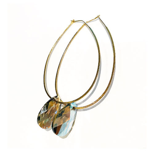Örhängen med Swarowski® kristaller Mabel Black Diamond Shimmer