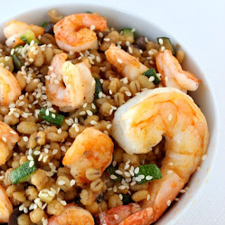 Asian Shrimp Barley Bowl