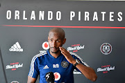 Orlando Pirates coach Rhulani Mokwena during the Orlando Pirates media open day at Rand Stadium on September 11, 2019 in Johannesburg, South Africa.