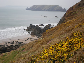 Photo: From Marloes Sands to Broad Haven (Ragged Rocks and Gateholm Island in the bkgrd)