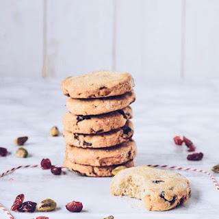 Cranberry, Orange & Pistachio Cookies.