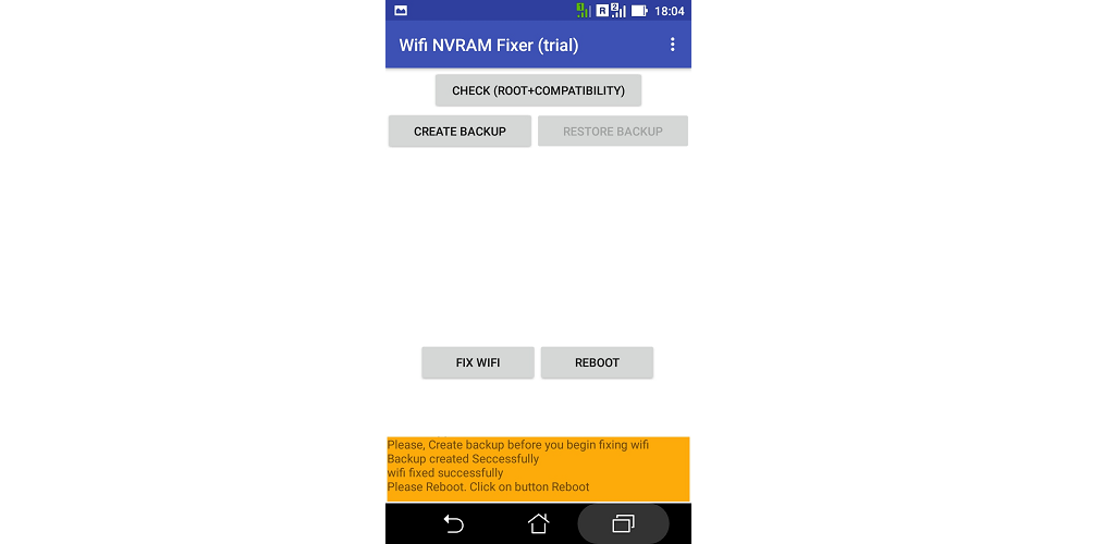 Download WIFI NVRAM FIXER [ROOT] APK latest version 1 0 for