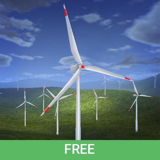 Wind Turbines 3D Live Wallpaper Free