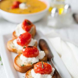 Campbell'S Everyday Gourmet Golden Butternut Squash Soup with Tomato-Ricotta Bruschetta Recipe