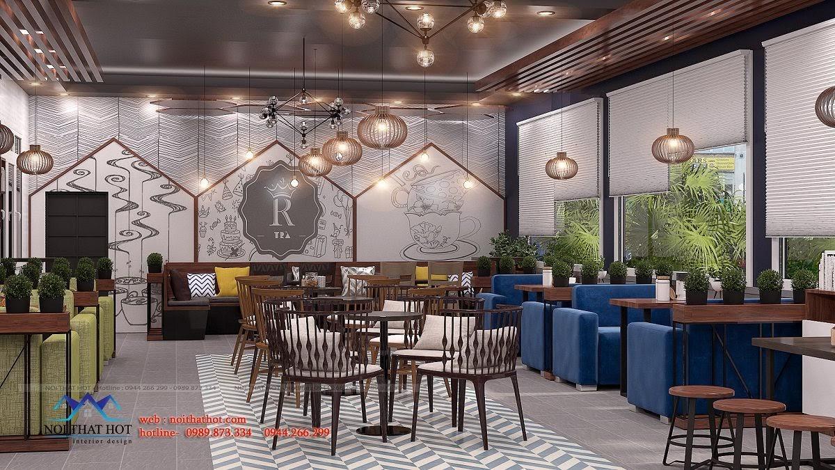 thiết kế quán trà sữa royal tea 5