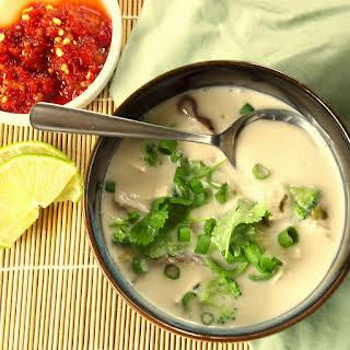 Gai Tom Kha (Thai Coconut and Lemongrass Soup).