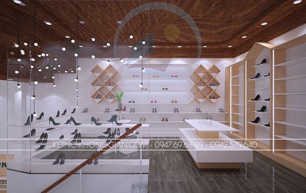 thiết kế shop giày dép thời trang ấn tượng