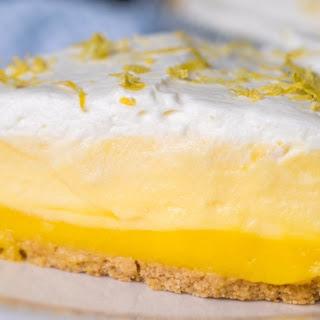 No-Bake Triple Layer Lemon Pie.
