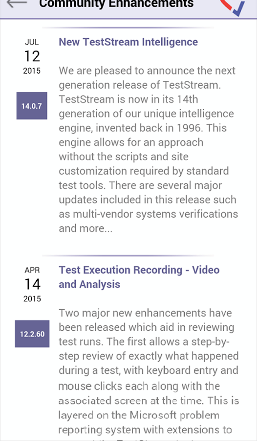 Vedant TestStream- screenshot