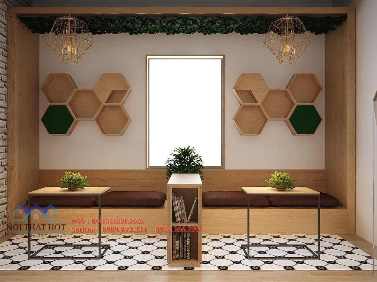 thiết kế quán trà sữa Samcha 9