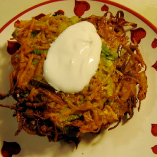 Sweet Potato & Leek Latkes.