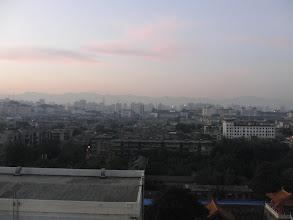 Photo: Xi'an was a bit hazy