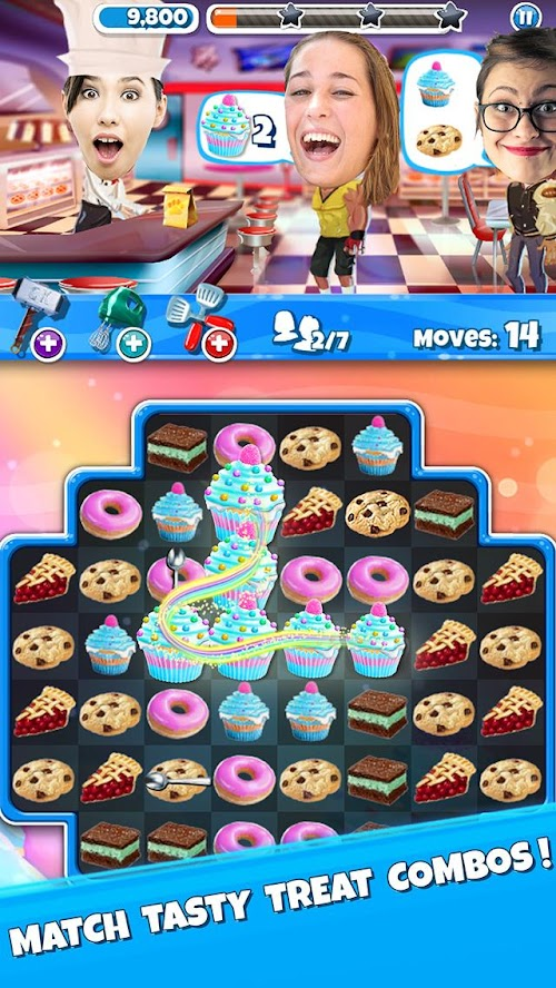 Screenshot 1 Crazy Kitchen: Match 3 Puzzles 6.0.0 APK MOD