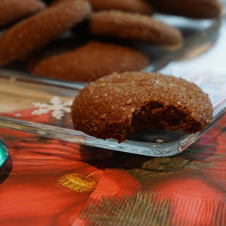 Molasses Gingerbread Cookies with Sprouted Spelt Flour.
