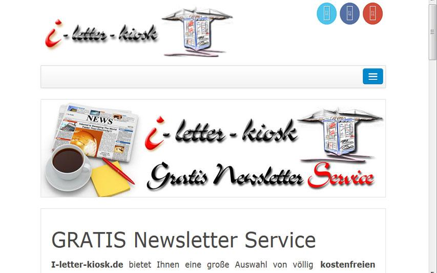 Newsletter Kiosk- screenshot