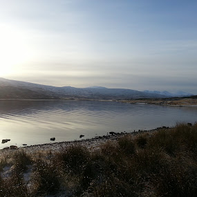 by Rachel Startin - Instagram & Mobile Android ( water, scotland, mountain, snow, lake, loch, highlands, sun )
