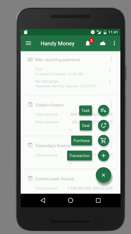 Handy Money - Expense Manager Screenshot 2