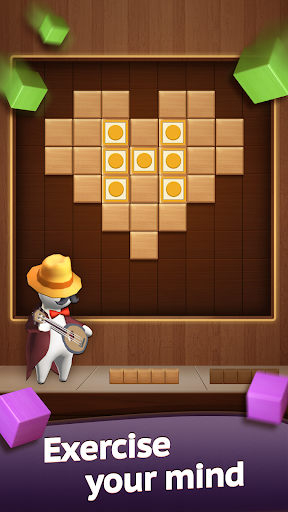 Hello Block - Wood Block Puzzle android2mod screenshots 3