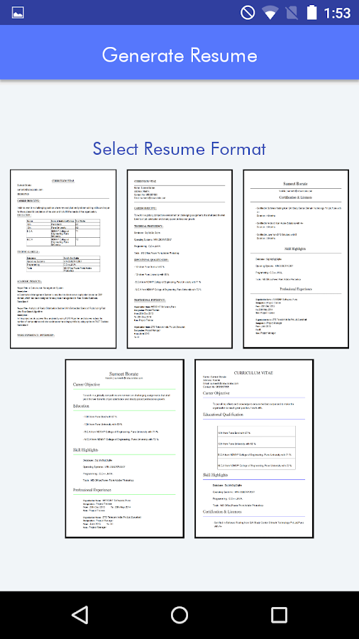 my resume cv builder android apps on google play