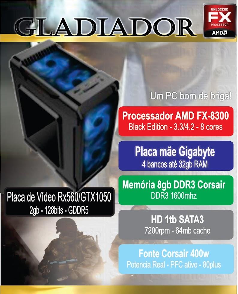 CPU Gamer Gladiador - FX8300
