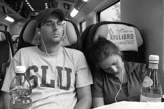 Photo: Chris and Katie...sleeping on the train ride from Venice to Florence