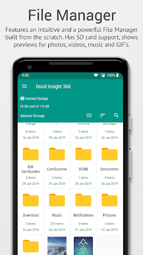 Droid Insight 360: File Manager, App Manager 3.0.9 screenshots 2