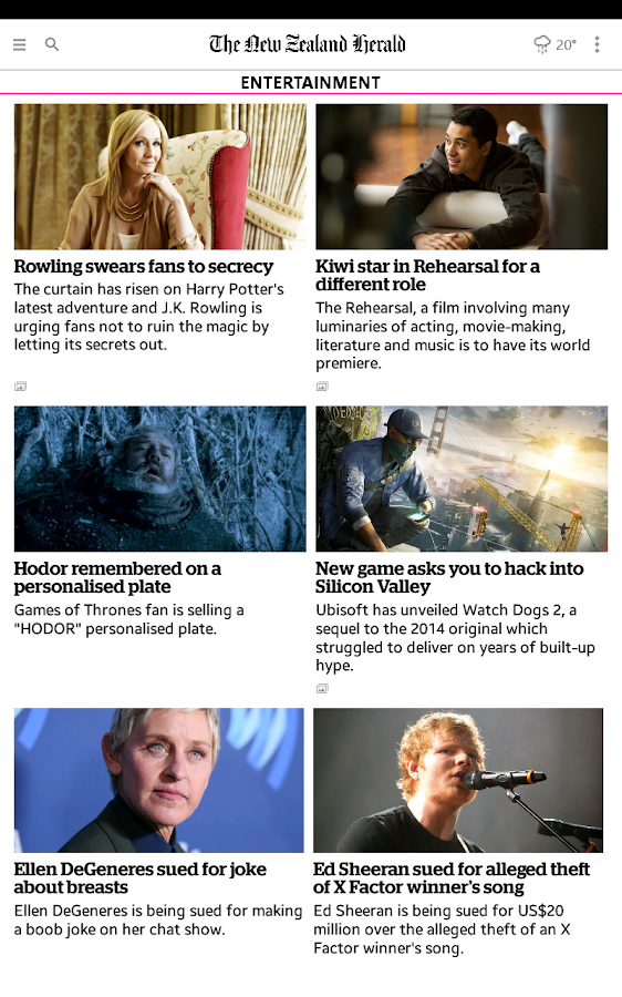 NZ Herald News- screenshot