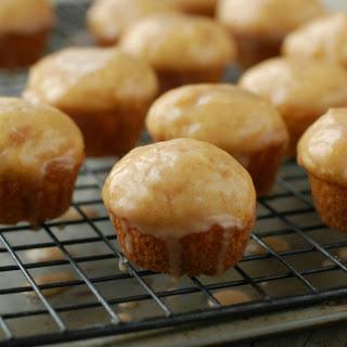 Eggnog Muffins With Cinnamon Rum Glaze.