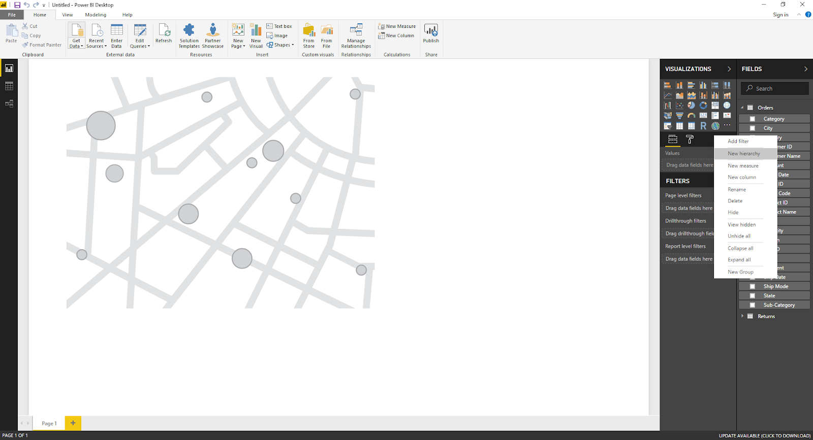 Maps & Hierarchy in Microsoft Power BI 31