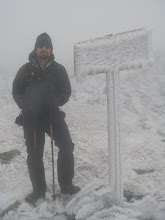 Photo: Near the top of Mount Washington, the windward sides of the signs were unreadable because of heavy rime accumulations.