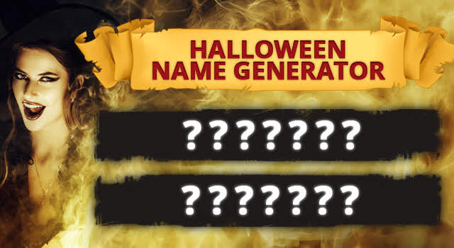 What is Your Halloween Name? [Unique Name Generator]