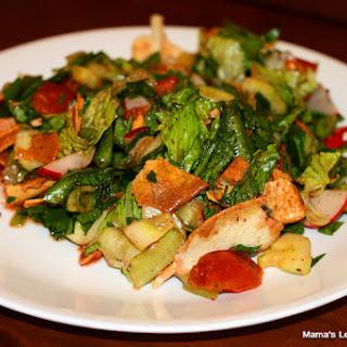 Lebanese Fattoush Salad.