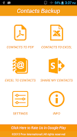 Screenshot of Contacts Backup