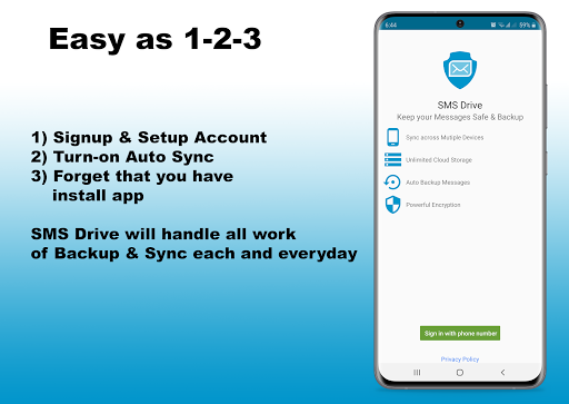 sms drive | message backup, restore & sync screenshot 1
