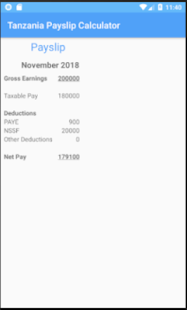 App Tanzania Payslip Calculator APK for Windows Phone