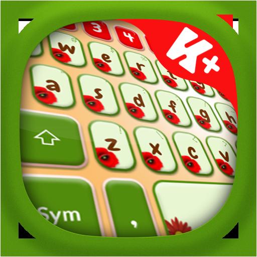 个人化のPoppy Garden Keyboard LOGO-記事Game