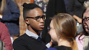 Fanelo Arens, the late Hannah Cornelius ex-boyfriend at her funeral.  Picture Credit: Anthony Molyneaux