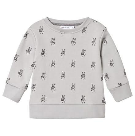 One We Like Grey Peace Sweatshirt