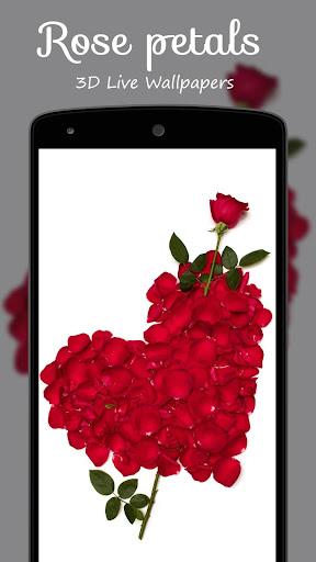 3D玫瑰花瓣動態壁紙