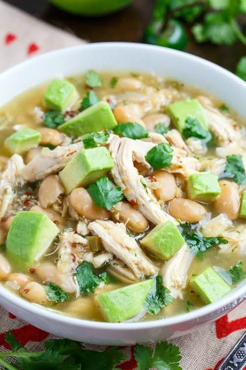 """Quinoa White Chicken Chili """"One of the best things about this tasty..."""