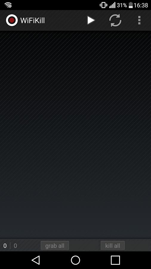 WiFiKill– captura de ecrã