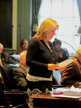 Photo: Rep. Longhurst introduces the ADA 25 proclamation in the House during Disability Day at Legislative Hall on 3.25.15. Rep. Longhurst also recognized many of the advocates gathered in the House.