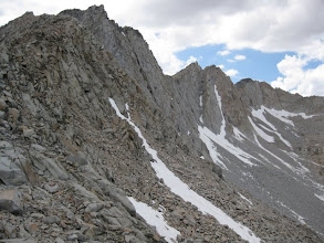 Photo: Clouds were gathering so I quickly left for the climb up Mather Pass